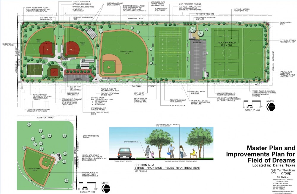 Rendering of the sports complex Master Plan, provided by Mercy Street